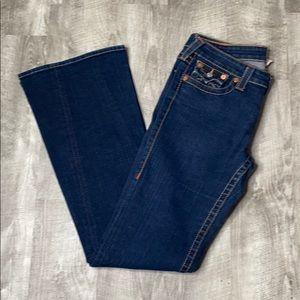 True Religion dark wash flare leg jeans -  31